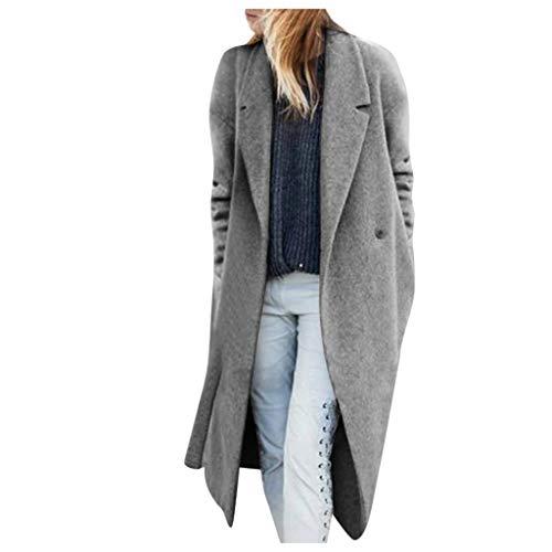 Luckycat Invierno Mujeres Moda Informal más Gruesa Slim sólido Chaqueta Abrigo Mujer Invierno Abrigo Casual Sudadera Solapa Chaqueta de Lana Capa Jacket Parka Pullover