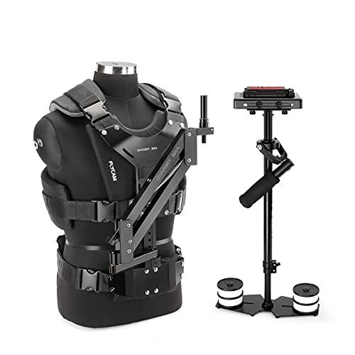 FLYCAM-5000 Handheld Steadycam Stabilisator mit Komfortarm und Weste Professionelles körpermontiertes Stabilisierungssystem für DSLR-Kameras bis 5kg / 11lb + Aufbewahrungstasche (FLCM-CMFT-KIT)
