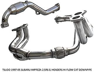 Tsudo UEL Headers V2 Hi-flow Catalytic Downpipe Compatible 97-05 Subaru impreza 2.5RS EJ