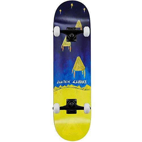 Palace Skateboards Clarke Church - Skateboard completo, 21 cm, colore: Blu