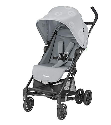 Maxi-Cosi Mara Cochecito de 0 meses a 22 kg, plegable y ligero 6.7 kg, reclinable con posición para dormir, plegado compacto, color brave grey