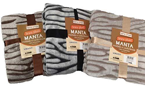 Plaid Manta Zebra 150X 200con Base Suave Ligera