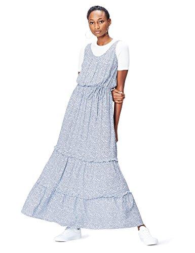 find. 13652 vestidos mujer casual, Azul (Blue), 36 (Talla del Fabricante: X-Small)