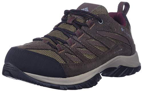 Columbia Women's Crestwood Mid Waterproof Hiking Shoe, Dark Truffle, Rich Wine, 5.5