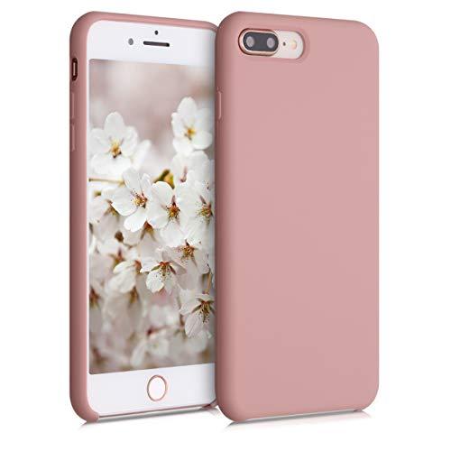 kwmobile Custodia Compatibile con Apple iPhone 7 Plus / 8 Plus - Cover in Silicone TPU - Back Case per Smartphone - Protezione Gommata Rosato