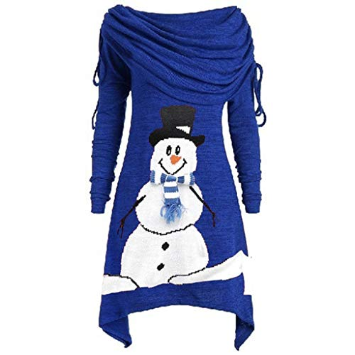 Damen Weihnachten Sweatshirt Langarmshirts Kleidung,Weihnachtskleid Damen Übergröße Mode Solide...