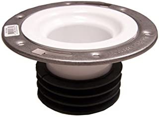 Genova Products 75158S Universal Closet Flange with Stainless Steel Ring, 4