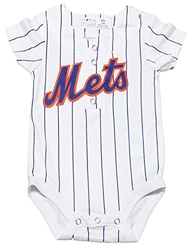 New York Mets White Newborn Infants Cool Base Home Creeper Jersey (24 Months)