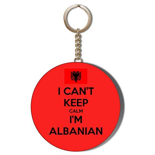 Gift Insanity Abrebotellas con llavero de 58 mm con texto en inglés 'I Can Keep Calm I'M ALBANIAN