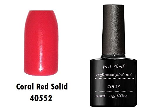 JUST SHELLAC GEL Vernis Couleur a Ongles Lobster Roll Coral Red professionnels gel UV Semi Permanent UV/LED 10ml