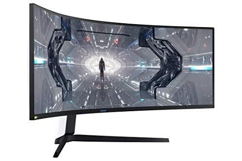 Samsung Odyssey G9 (C49G93TSSR) 124 cm (49 Zoll) 240Hz Gaming Monitor (5.120 x 1.440 Pixel, 1ms, QLED, DQHD, 1000R, Dual Monitor, HDR, G-Sync kompatibel, ultra wide) weiß