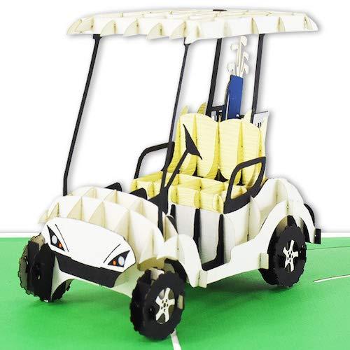 3D-Pop-Up-Karte - Golfcart - z.B. als Gutschein