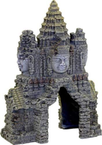 Rosewood Ornamento per Acquario in Palissandro con Porta del Tempio Angkor Wat
