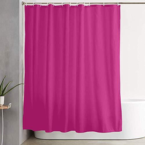 Lustiger Stoff Duschvorhang Magenta Dye einfarbig wasserdicht Badezimmer Dekor mit Haken 60 x 72 Zoll