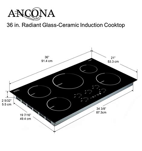 Ancona 36 Inch Induction Cooktop Reviews