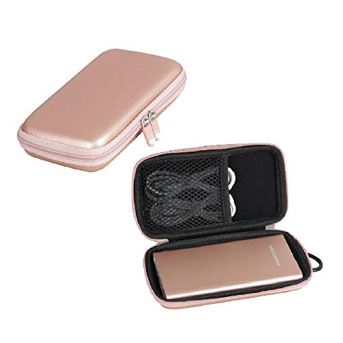 poweradd portable phone chargers Hermitshell Hard Travel Case fits EnergyCell/POWERADD Pilot 4GS 12000mAh 8-Pin Input Portable Charger (Rose Gold)