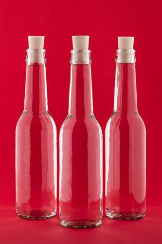 24 leere Glasflaschen 275 ml Antik-Flaschen mit Korken Likörflaschen Schnapsflaschen Saftflaschen Flasche zum selbst abfüllen Nr. 250 von slkfactory