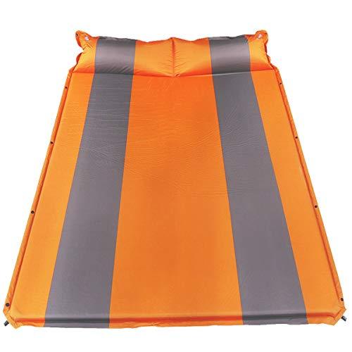 RGA Cojín inflable automático doble con almohada se puede empalmar, cama inflable del coche de SUV, cojín hidratante de la tienda al aire libre, utilizado para acampar