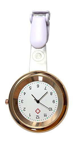Ellemka | Enfermeras Mujeres Hombres Unisex | Analógico | De Cuarzo | Reloj con Correa De Colgar y Clip | NS-2103