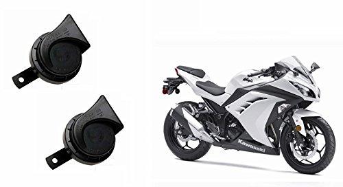 Roots Wind Tone Skoda Type Bike Horn (Set of 2)-Kawasaki Ninja 300