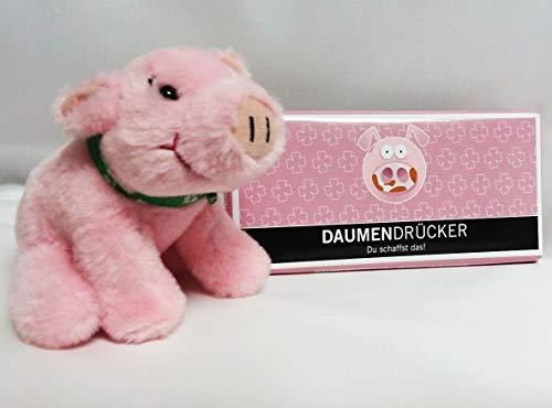 Unbekannt Geschenkset: Glücksschwein, Schokolade Daumendrücker 100 gr.