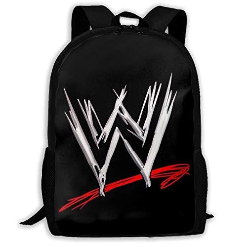 High-Capacity Unisex Adult Backpack Wwe Logo Bookbag Travel Bag Schoolbags Laptop Bag