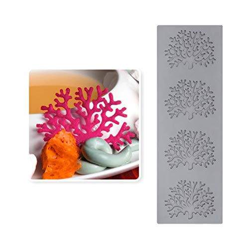 SHEANAON Coral Decorative Lace Mat Cake Mold Sugar Craft Silicone Pad Fondant Moulds Decorating Tools Baking Accessories