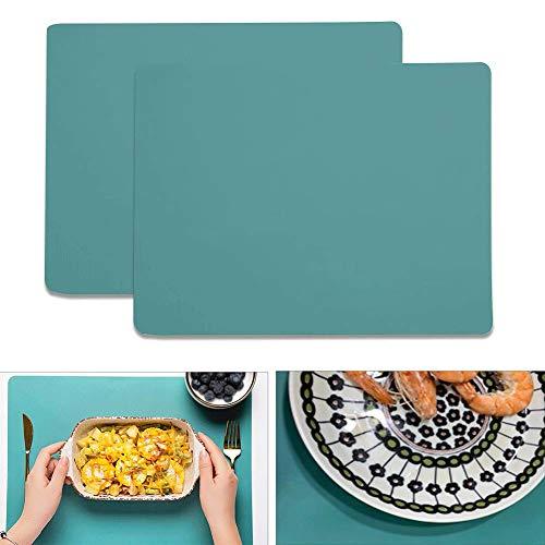 Kitchenmore Tischset Platzset aus Silikon 40 x 30 cm 2er Set rutschfest Abwaschbar Tischsets Edles Platzdeckchen Teller-Unterlagen Teller-Untersetzer Platz-Matten