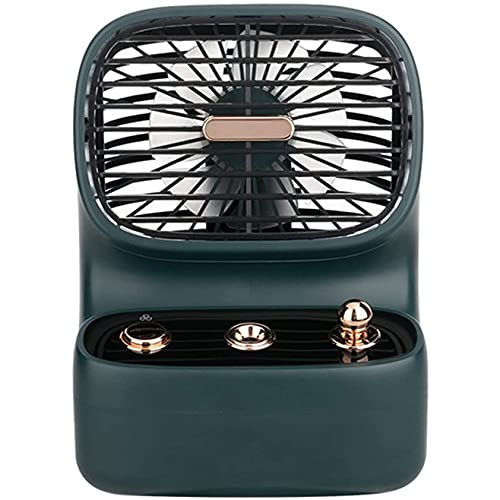 LON Portable air conditioner Retro USB Spray Fan, Personal Space Air Cooler Mini Evaporative Cooler Quiet Desk Fan,Built-in 350ml Water Tank, Small Size, Easy to Carry, for Home Office Bedroom, Black