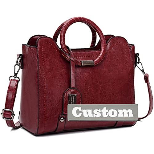 Nombre Personalizado Crossbody Travel Bag Bolso de Hombro Monedero Bolso de Moda para Hombro (Color : Jiuhongse, Size : One Size)