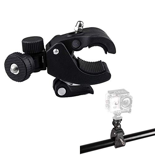 YUOCU Super Clamp Large Size with 1/4inch Tripod Head Compatible for Holding LCD Monitor,DSLR Camera,DV,Mic Work on Music Stands,Microphone Stands,Motorcycle,Bike,Rod Bar