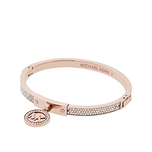 Michael Kors Rose Gold Tone Fulton Hinge Bangle Bracelet