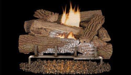 Best Bargain Superior Fireplaces MNF24 OD 24'' NG Stainless Electric Burner w/ 24'' Mossy Oak Logs