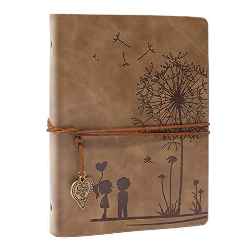 A5 Diario Diario Vintage PU Pelle Sketchbook Notebook Diario di Viaggio Diario Diario Ricaricabile Libro Bianco Marrone