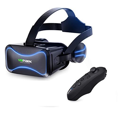 AZUOYI 3D VR Gafas de Realidad Virtual Gafas 3 D Gafas Casco de Auriculares para iPhone Android Juegos Smartphone con Controladores,J30,Y1white