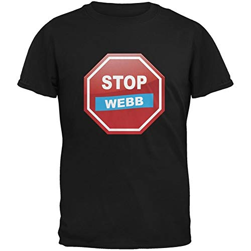 Election 2016 Stop Webb Black Adult T-Shirt