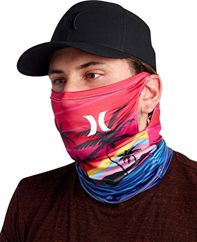 Hurley Men's Gaiter - Lightweight Multipurpose Neck Gaiter Face Mask, Size Small,...