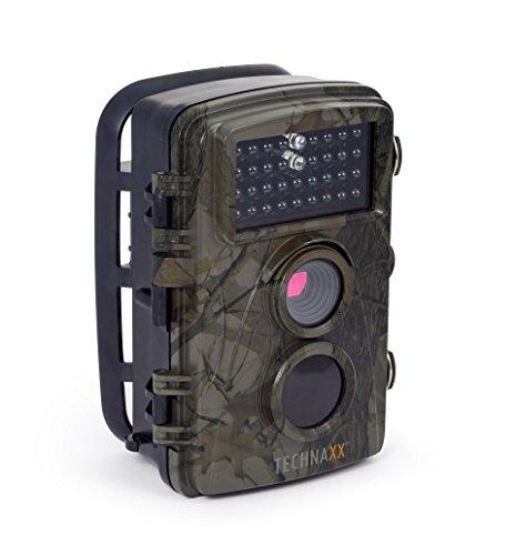 Technaxx Nature Wild Cam TX-69 Full HD Outdoor Überwachungskamera Wildkamera Nachtsicht 12 MP 1080P Wasserdicht Kabellos 0,6 Sekunden Auslösezeit, Bewegungsmelder Fotofalle