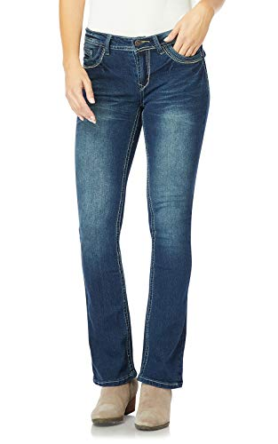 WallFlower Women's Juniors Plus-Size Classic Legendary Bootcut Jeans in Katy, 18 Plus Long