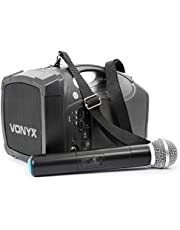 Vonyx ST010 Draagbare PA Speaker met Draadloze VHF Microfoon