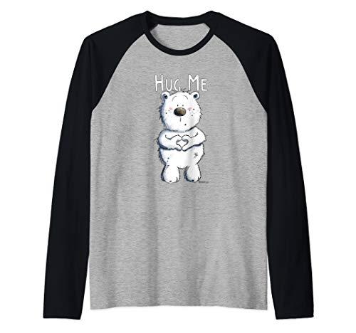 Bär Mit Herz I Knuddel Teddy Bärchen I Hug Me Bär Eisbär Raglan
