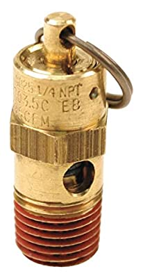 Control Devices SA25-1A200 SA Series Brass Hard Seat ASME Safety Valve, 200 psi Set Pressure, 1/4 Male NPT from Control Devices
