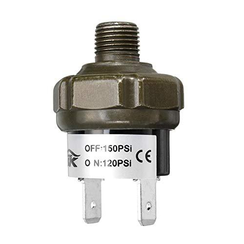 Lanrui Nuevas válvulas Interruptor de Aire Control de presión de Control de presión Válvula de Interruptor Que Amenaza el Deber 70 90 100 120 150 180 PSI (Color : 120 150Psi)