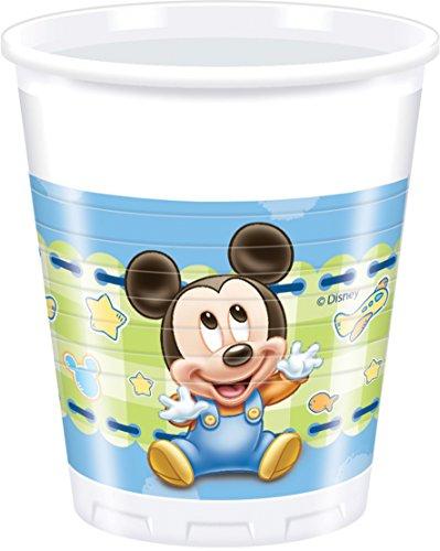 Disney Baby Mickey Mouse Kunststoff Becher, 8 Stück 200ml