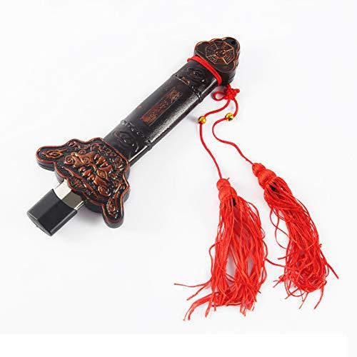 Yxp Barra Telescopica Taiji Arti Marziali Kung Fu Shaolin, Premio Metallo Asta Cinese Taichi per La Ginnastica Idee/Mattina, con Red Nappa E Sacchetto,Marrone