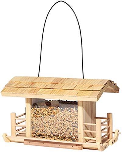 Sauvage Mangeoire classique Feeder Tube Bird House Garden Cabin Mangeoire Facile à nettoyer et Recharge for l'extérieur des oiseaux décoratifs traditionnels suspendus en métal Table autoportant for le