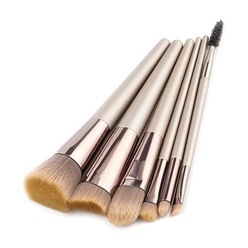BERYLSHOP Ensemble de pinceaux de maquillage Outils Trousse de toilette de maquillage Pinceau cosmétique en nylon Pinceau for les yeux (Couleur : Café, Size : 6-piece)