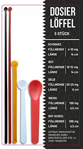 Dosierlöffel Messlöffel 5er Set | ab 6 mg bis 200 mg exaktes dosieren | mikro Dosierhilfe für milligramm genaue dosierung