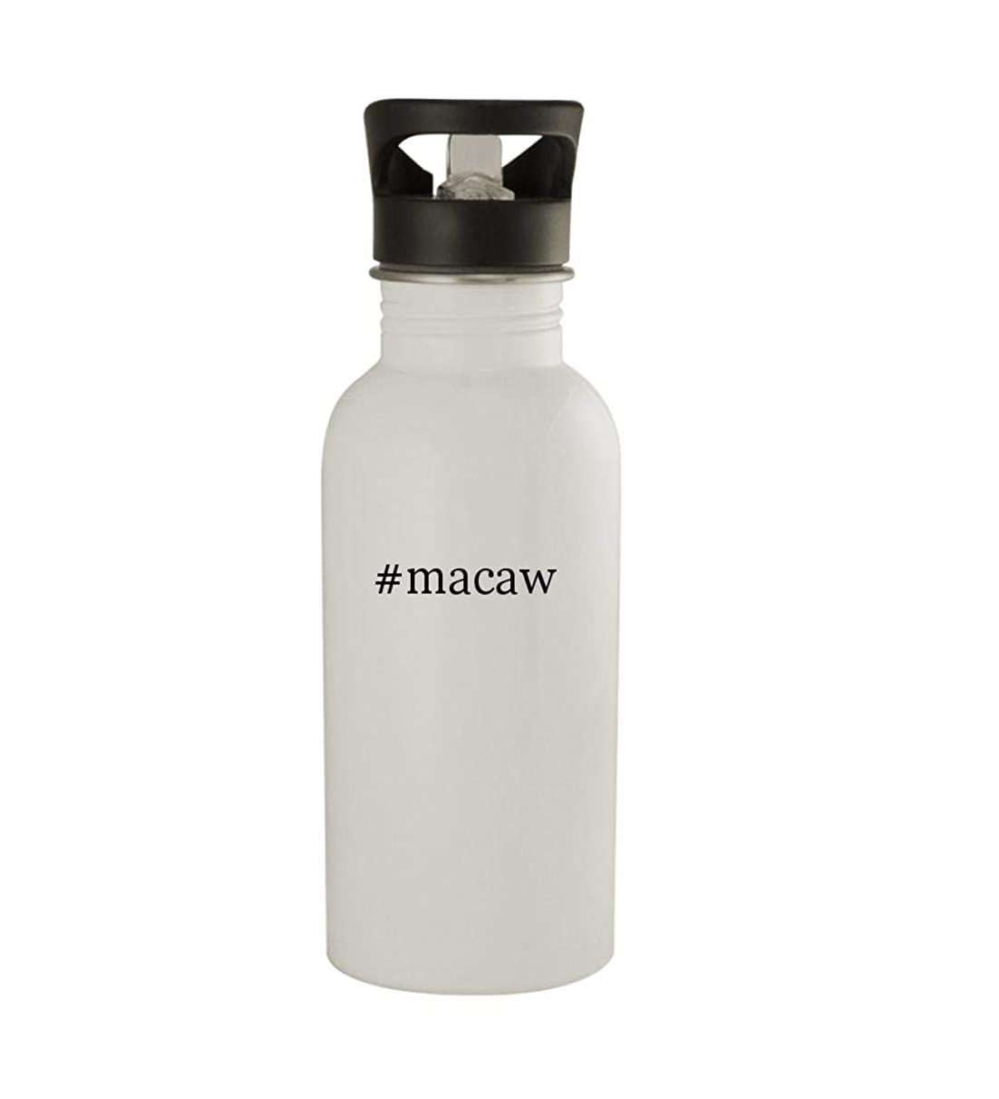 Knick Knack Gifts #Macaw - 20oz Sturdy Hashtag Stainless Steel Water Bottle