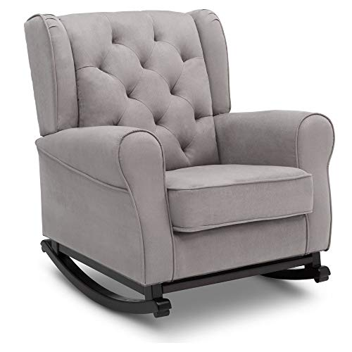 Delta Children Emma Upholstered Rocking Chair, Dove Grey